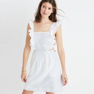 Madewell Leilani Eyelet Apron Dress White $138